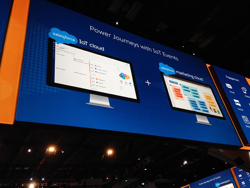 SalesforceのIoTとマーケティングクラウドの解説画像