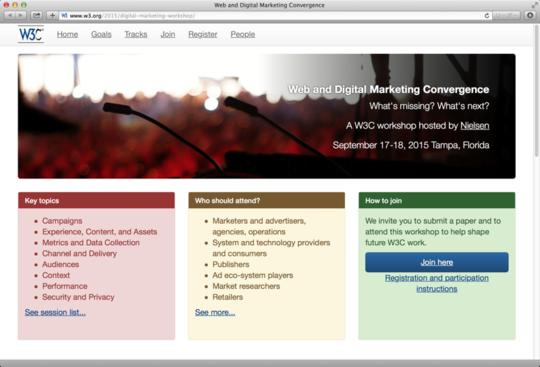 Web and Digital Marketing Convergenceのウェブサイト(画面キャプチャ)